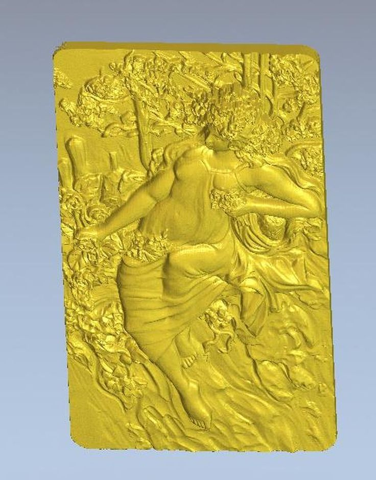 3d model relief  for cnc in STL file format autumn lady #Affiliate
