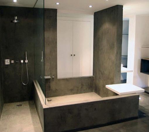 Ba os de concreto pulido decoideal arquitectura - Banos cemento pulido ...