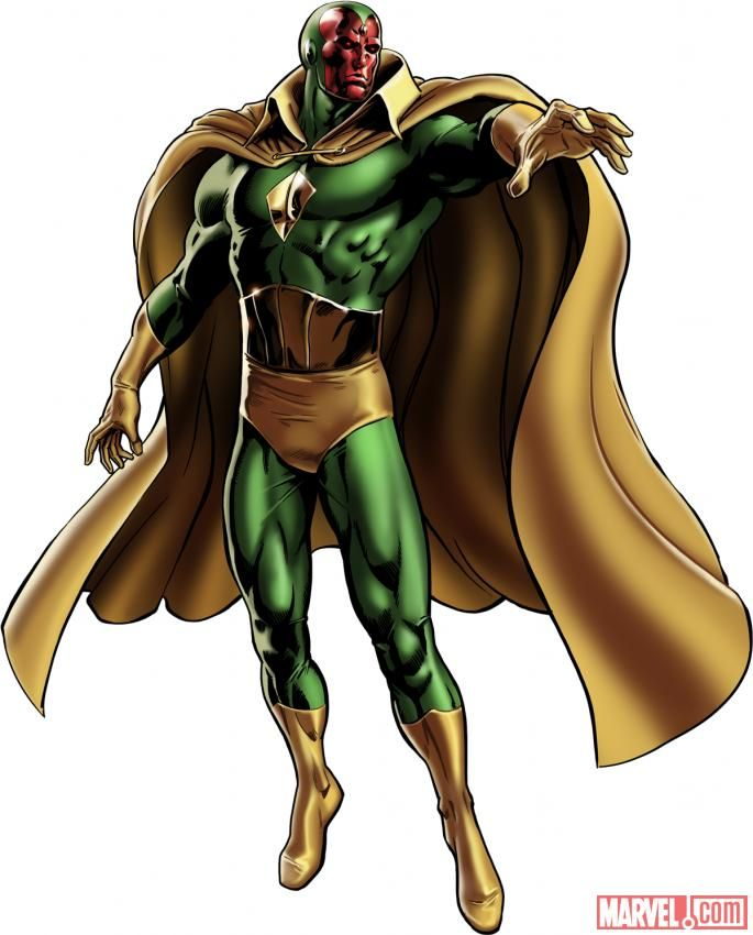 The Vision Marvel Comics | Vision - Robot Supremacy Wiki
