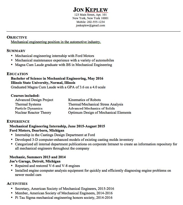 Entry Level Mechanical Engineering Resume 53 Best Mechanical Engineering Images On Pinterest  Mechanical .