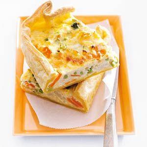 Groentequiche met kaas, kan een dag vantevoren gemaakt worden