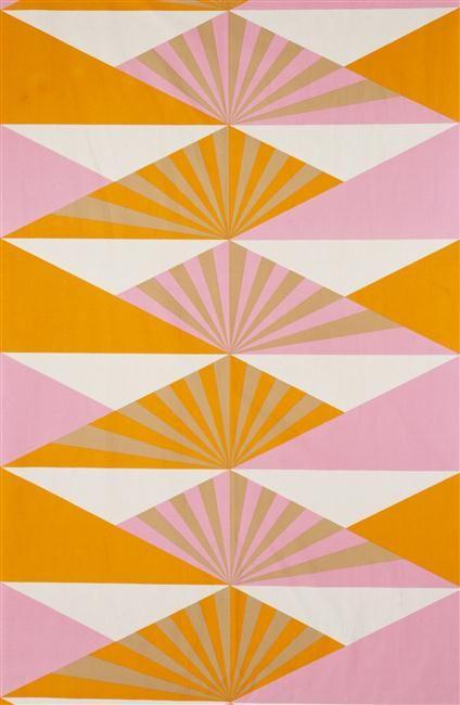 Lucienne Day, Sunrise, furnishing fabric 1969 Machine screen-printed cotton designed for Heal Fabrics Ltd.