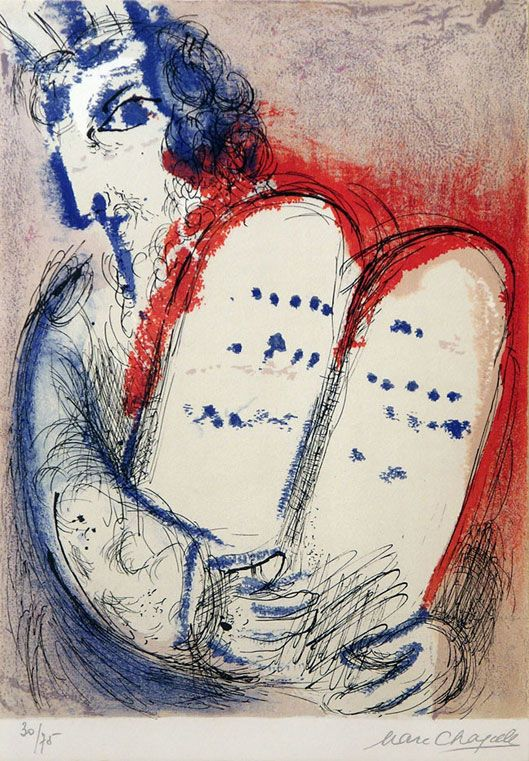 Moses and the Ten Commandments (Chagall)