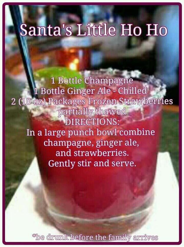 Santa's Little Ho Ho Holiday Cocktail   Delightful Christmas Drinks & Holiday Cocktails   Classic And Cozy Homemade Drinks Worth Trying by Pioneer Settler at http://pioneersettler.com/christmas-drinks-holiday-cocktails/