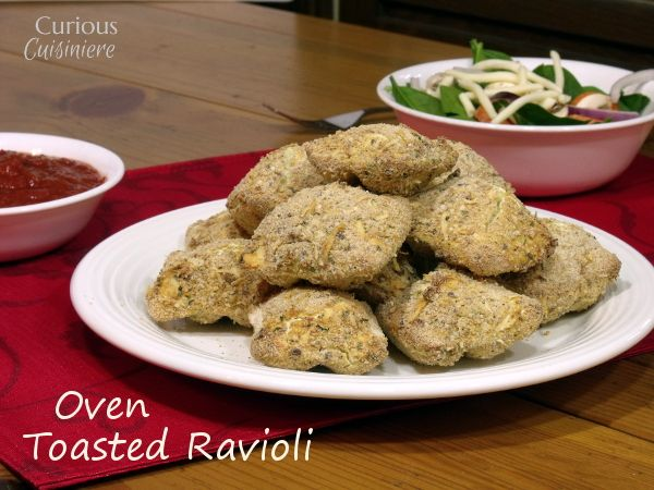 Oven Toasted Ravioli from Curious Cuisiniere #SundaySupper