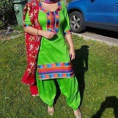 Special Festival Bollywood Indian Designer Punjabi Patiala Phulkari salwar suit