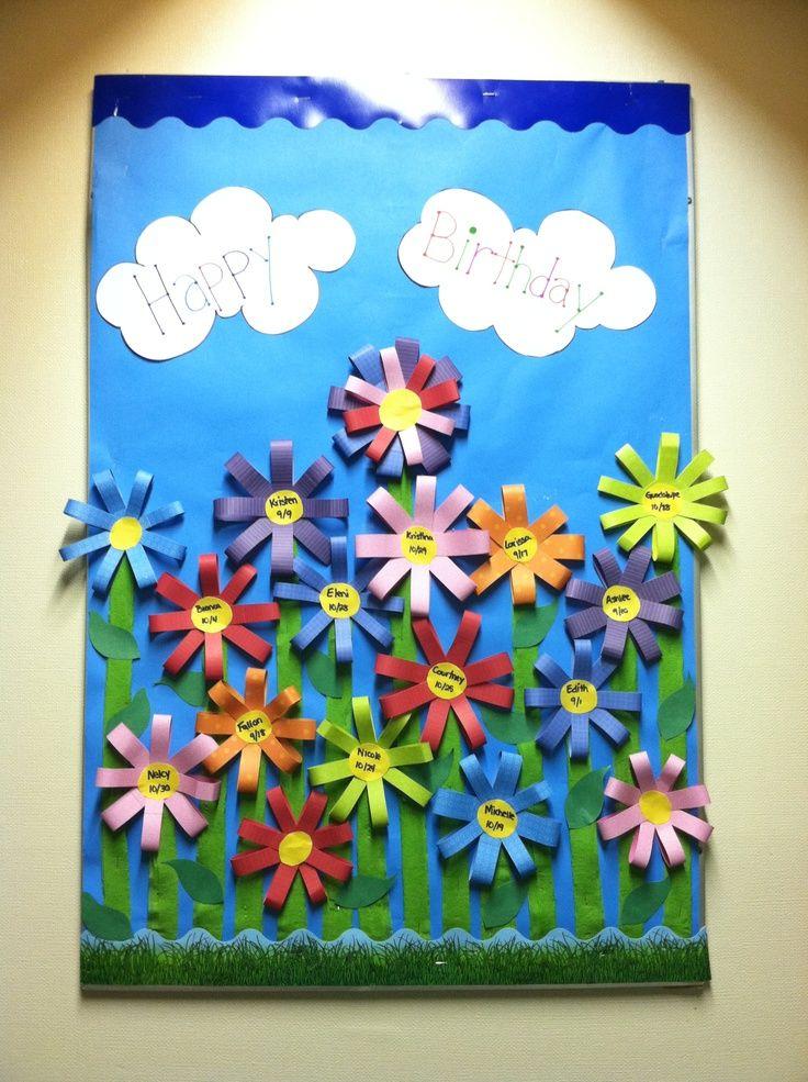 Happy Birthday Bulletin Board Ideas | Happy Birthday board!! | Preschool bulletin boards | Pinterest