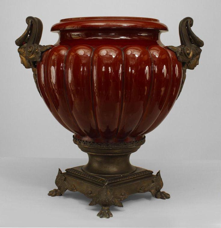 French Victorian Accessories Urn Vase Porcelain Victorian Urn Vase Vase Urn