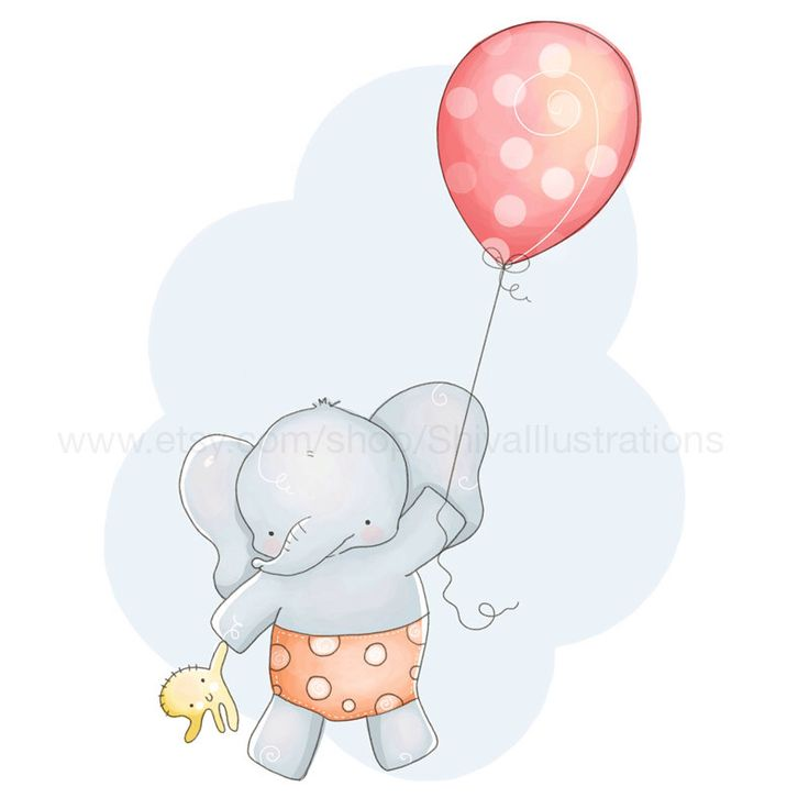 Bambini illustrazione - vivaio Art Print - Cute elefante volare con un palloncino In cielo di ShivaIllustrations su Etsy https://www.etsy.com/it/listing/207960447/bambini-illustrazione-vivaio-art-print