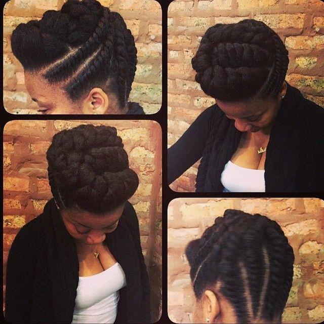 flat twists natural hair do