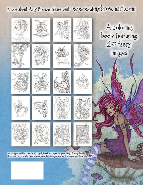 108 besten Artist Amy Brown Coloring Bilder auf Pinterest | Amy ...