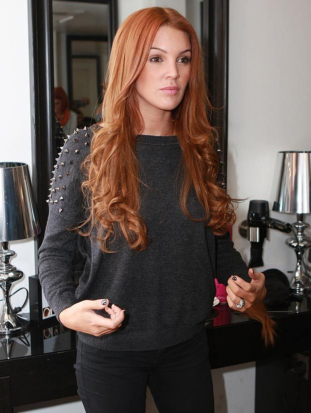 Celebrity Red Hair Extensions | #Danielle Lloyd Red Hair | Light Auburn Red Hair #30 | Available at Cliphair.co.uk | #Auburnhair