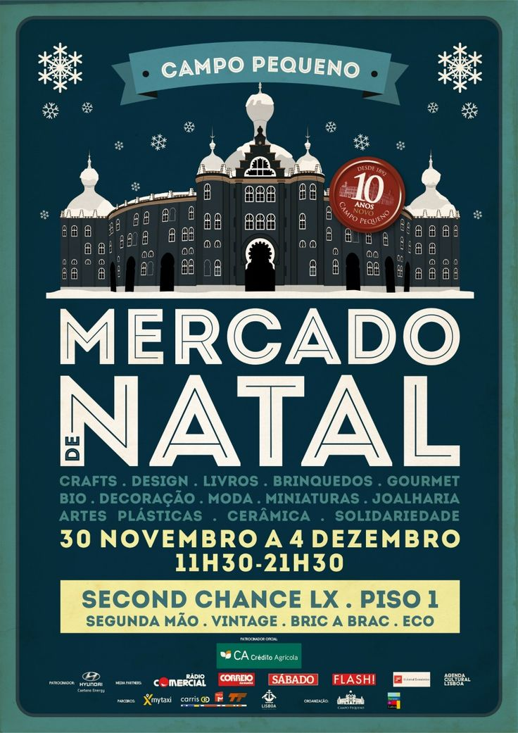 100 Portuguese artisans selling 100% Portuguese arts, crafts, food and design gifts for Christmas! It's the Mercado de Natal at Campo Pequeno, 30 Nov to 4 Dec. A special area featuring #sustainable gifts too!