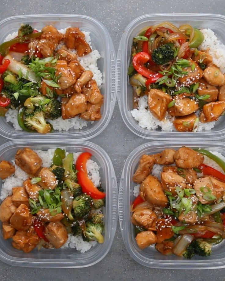 Chicken and Veggie Teriyaki Stir Fry Bowl. Make This For Your Next Weekday Meal Prep