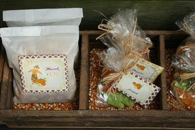 fall party favors cinnamon kettle corn popcorn for adults and cookies for kids i like it. Black Bedroom Furniture Sets. Home Design Ideas