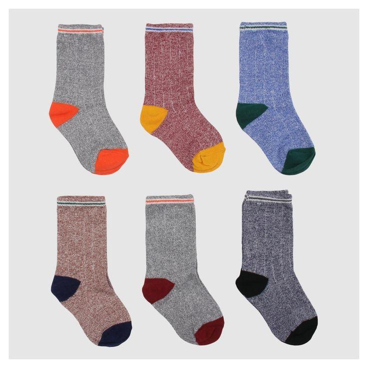 Toddler Boys' 6pc Dress Sock Set - Cat & Jack Heather Gray 4T-5T, Size: 4T/5T