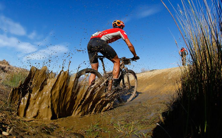 Cyclists in action during the 117km stage five of the Absa Cape Epic mountain bike team stage race in Worcester, South Africa