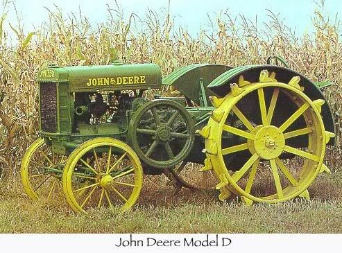 Old steel wheel John Deere