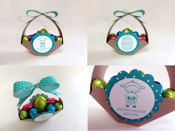 Tuto panier de Pâques avec Insta'Enveloppe Stampin'Up! Tuto easter basket with Enveloppe Punch Board Stampin'Up!