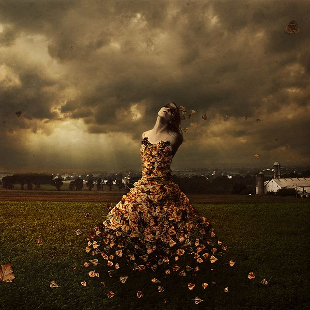 """""""""""The Leaves of Linden Avenue"""" by photographer Brooke Shaden ---- read about the process here: http://shadenproductions.com/blog/2012/03/14/3411/"""