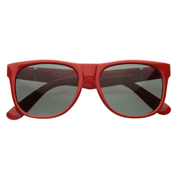 Retro Super Flat Hipster Trend Horn Rimmed Sunglasses