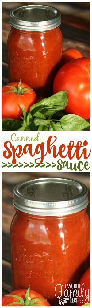 Canned Spaghetti Sauce is FAR better than anything you can find in a store. You'll love the rich, savory flavor. The best way to use fresh garden tomatoes! via @favfamilyrecipz