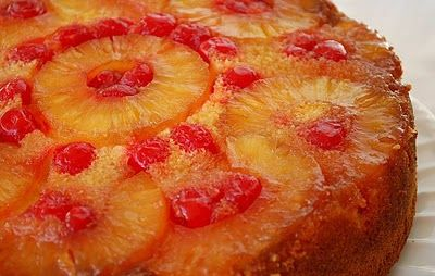 Pineapple Upside Down Cake - uses a spring form pan for all cakes - no worries about cake tearing when releasing from the pan