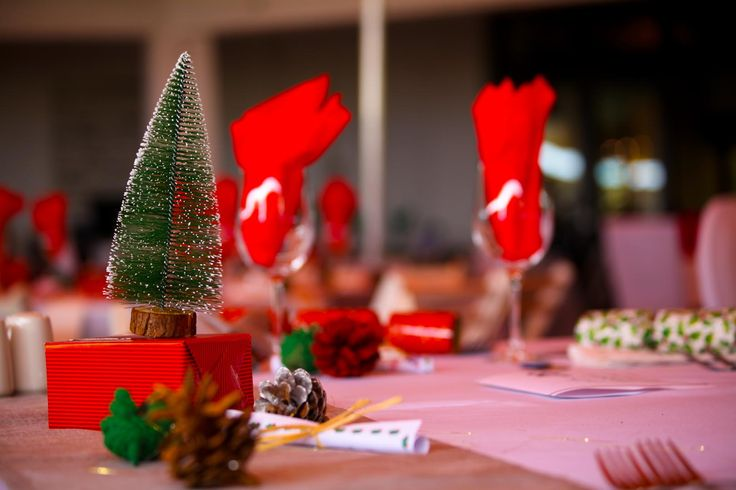 Tables dressed for the festive season