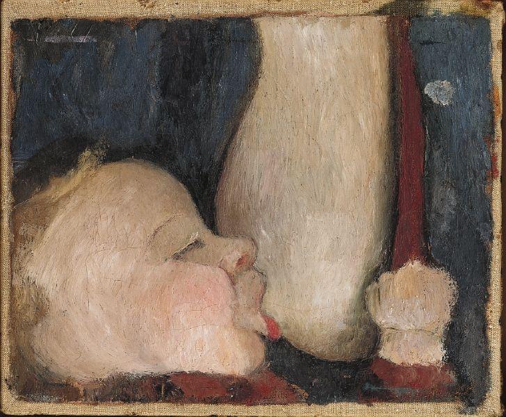 Paula Modersohn-Becker, Spædbarn ved brystet, 1904. Courtsey: Niedersächsisches Landesmuseum Hannover, Leihgabe der Rut- und Klaus-Bahlsen-Stiftung / Louisiana
