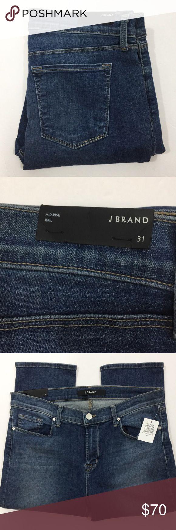 "J BRAND MID RISE 8112 RAIL SKINNY JEANS 32"" inseam. 9"" rise. 14"" back rise. Five pocket style. J Brand Jeans Skinny"