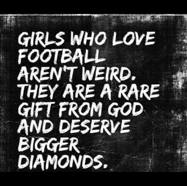 Love football & diamonds. What a coincidence x