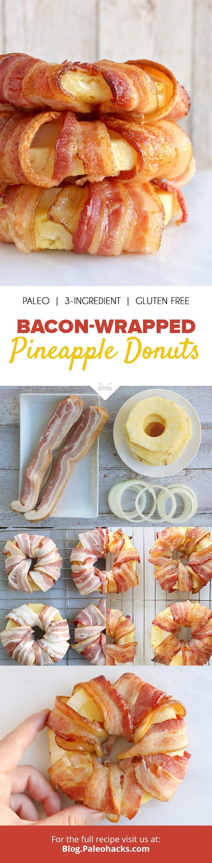 Bacon-Wrapped Pineapple Donuts