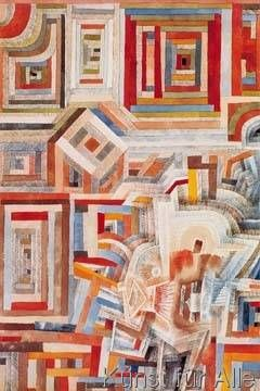 Paul Klee - Palace partially destroyed