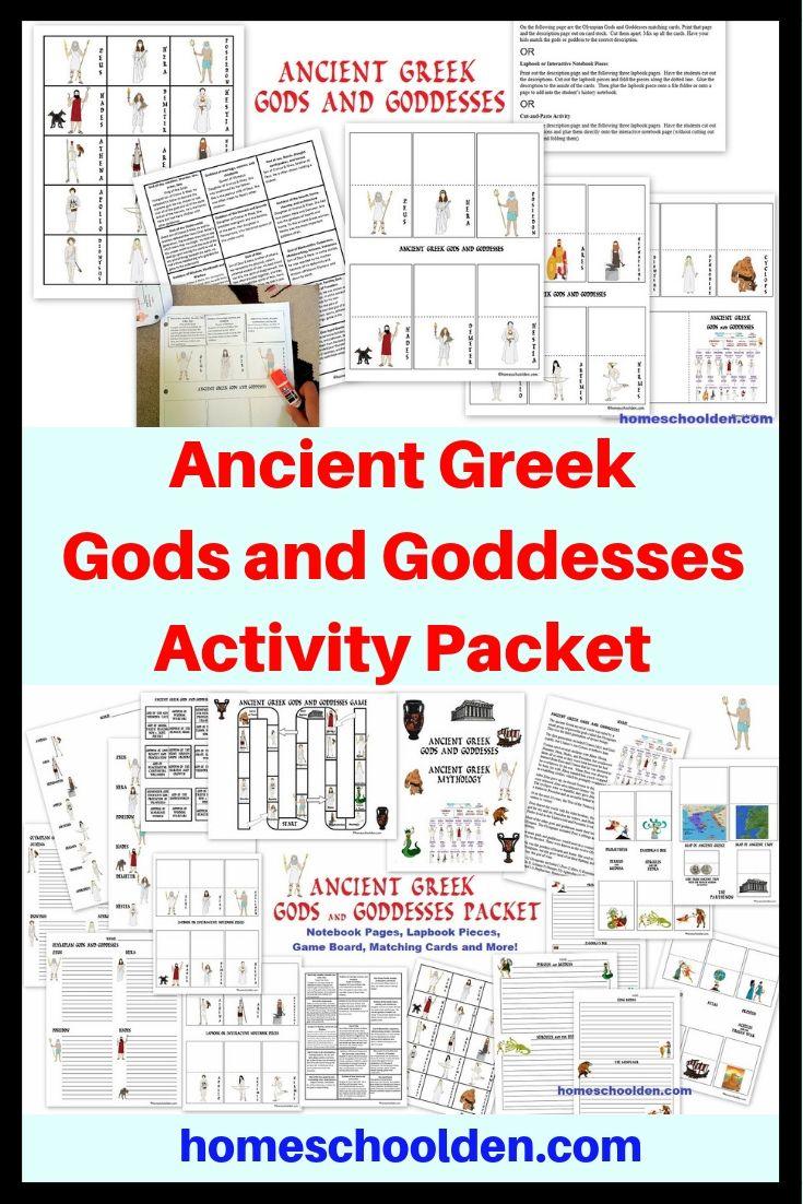 Ancient Greek Gods And Goddesses Activity Packet Ancient Greek Gods Greek Gods And Goddesses Greek Gods