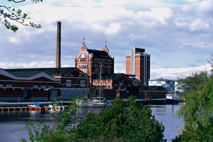 ABSOLUT Vodka factory in Ahus, Sweden