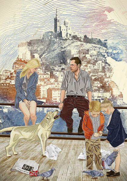 «Marseille» by Charlie Bearman #helloposter #poster #posters #art #modernart #printart #illustrators #illustration