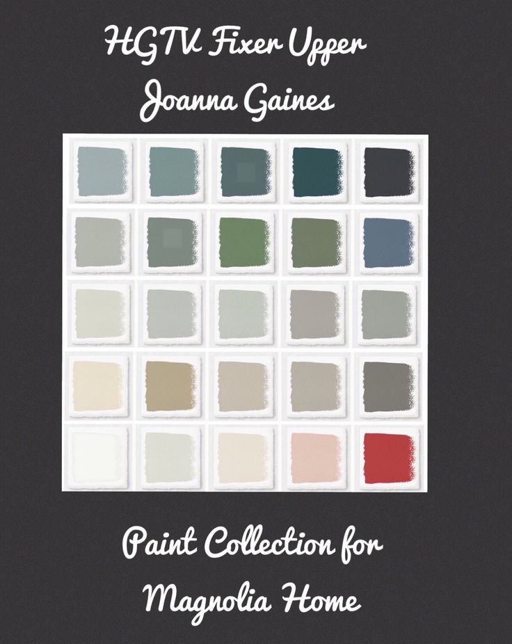 See all the Joanna Gaines by Magnolia Homes Paint Colors