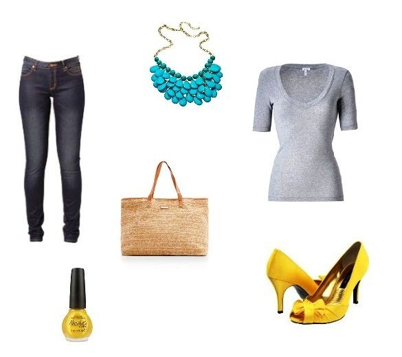 Yellow Shoes Outfit Combination 2