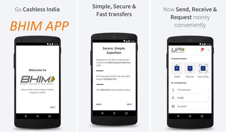 प्रधानमंत्री नरेंद्रमोदी नें बीते शुक्रवार को दिल्ली में आयोजित कार्यक्रम के दौरान BHIM app को लौंच किया  इसका पूरा नाम भारत इंटरफ़ेस फॉर मनी है 