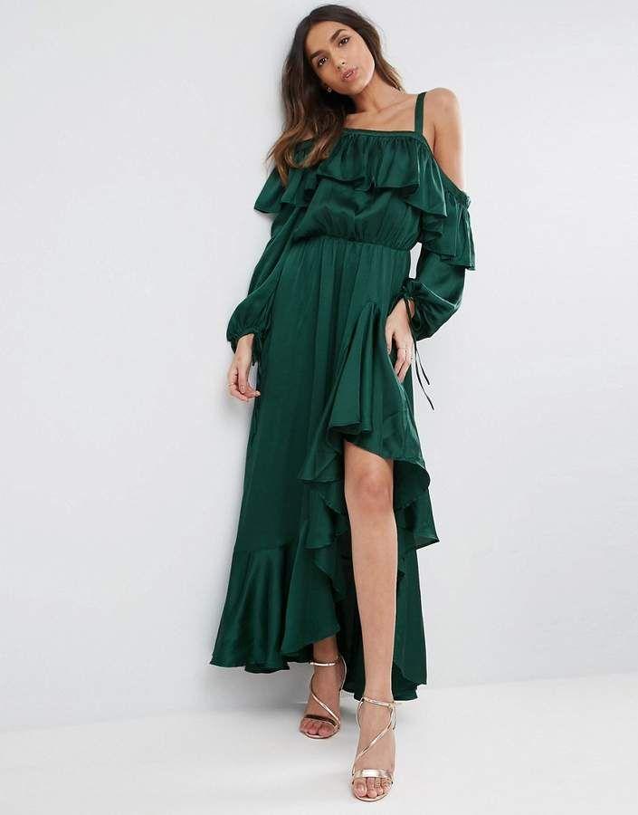 aac7171caba ASOS Cold Shoulder Ruffle Maxi Dress  affiliate