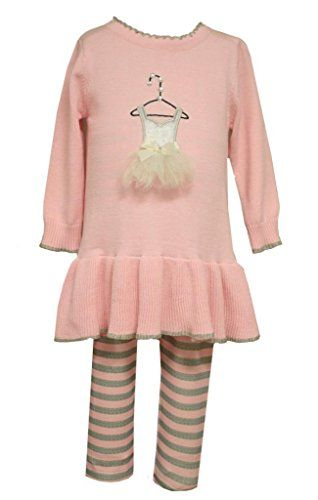 8a8bcda67 Girls Baby Ballerina Ballet Shoes Top and Pants Set