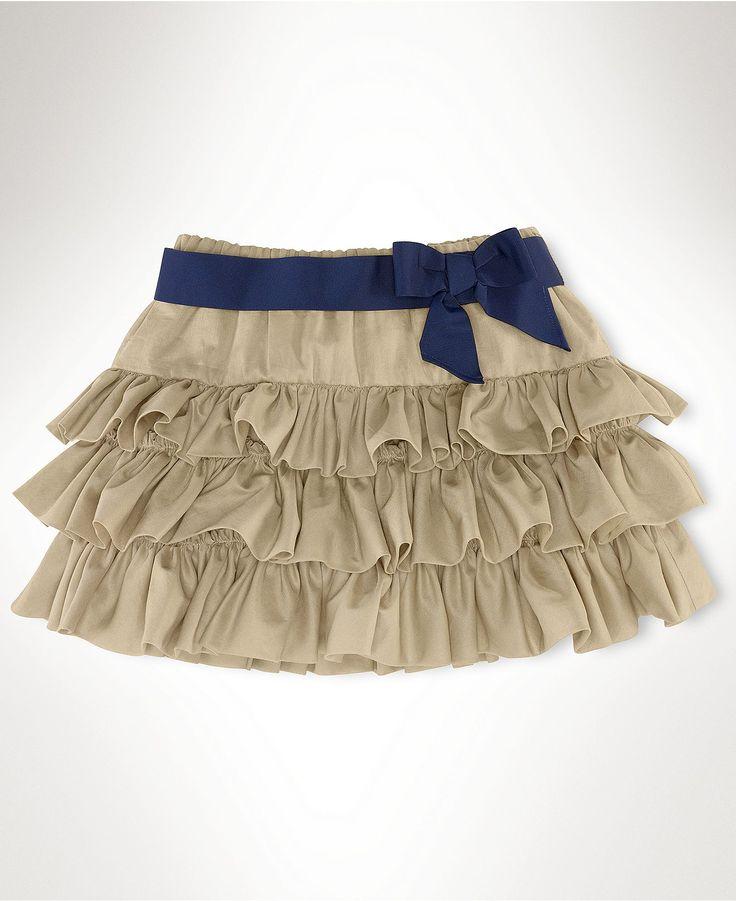 The Tiny Dancer will love this!  So fun! Ralph Lauren Girls Skirt, Little Girls Voile Tiered Ruffle Skirts - Kids Girls 2-6X - Macy's $39.50 #MacysBTS