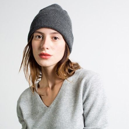 Cashmere Hat Charcoal – Everlane