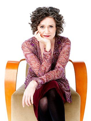 Judith Lucy has curly hair