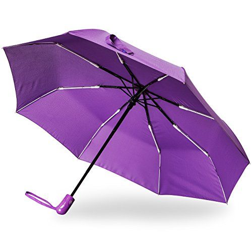 Stanzino Compact Windproof Travel Umbrella  Best Compact Umbrella for Men  Women  Lightweight  Durable  Automatic Open  Close Feature  Includes Fabric Cover for Storage