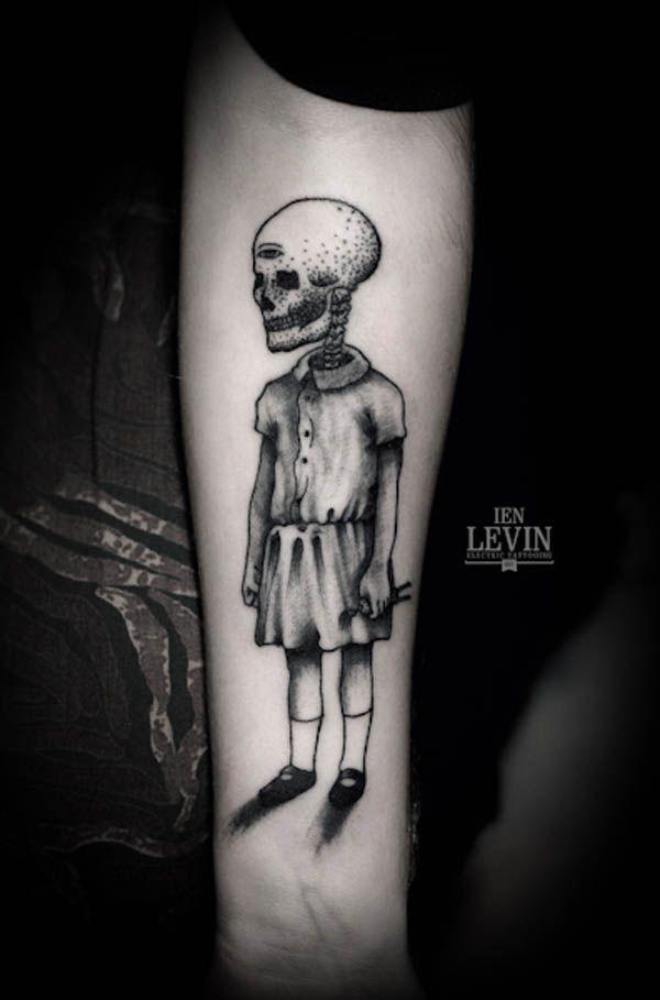 Creepy Tattoo Design by Ien Levin