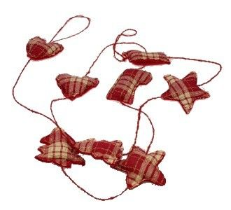 Kerstslinger rood wit geblokt | Kersthangers | onder-de-oude-peer