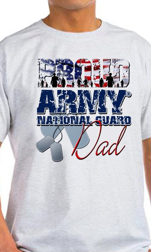 Proud Army National Guard Dad T-Shirt by MagikTees on Etsy
