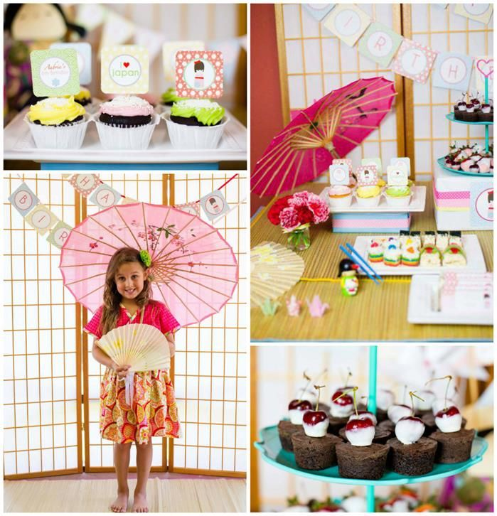 Japanese Kokeshi Doll with Lots of Cute Ideas via Kara's Party Ideas KarasPartyIdeas.com #Japan #Party #Ideas Kawaii party for a 6 year old girl