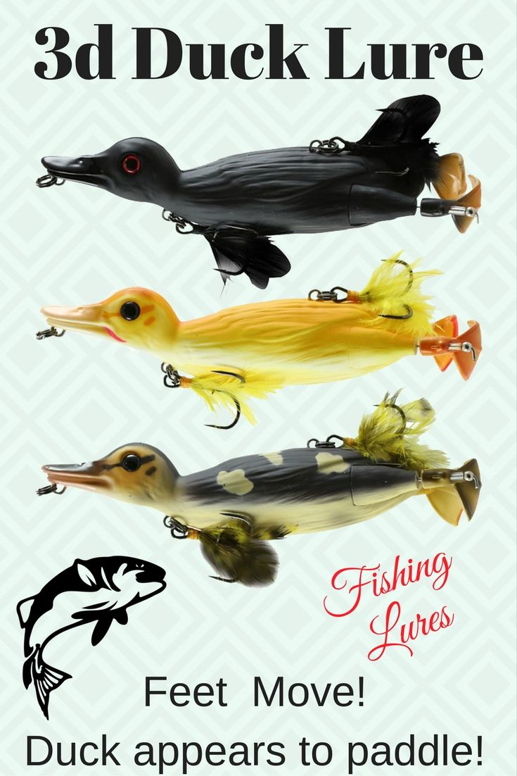 2753 best fishing lures images on pinterest bass fishing for Duck fishing lure